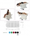 Table of aesthetics and electrically adjustable massage chair to