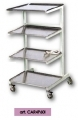 Stainless steel trolleys with 4 shelves