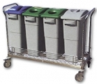 Cart Modular grid for the sorting of waste
