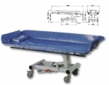 Stretcher for shower and adjustable height with hydraulic contro