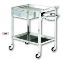 Stainless steel trolley with drawer 70x50x85 cm Art. 1264