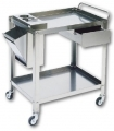 70x50x80 cm stainless steel trolley with accessories ar. 2869 /E
