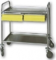 Art. MS40 / A trolley with removable shelves 2 2 plastic drawers