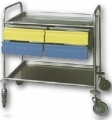 Art. MS40 / B cart with 2 removable shelves 4 plastic drawers