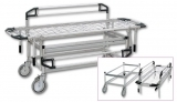 Stretcher trolley with removable flat net & banks art. 489 / 9